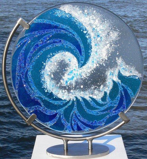 Blue wave by Ailsa Nicholson