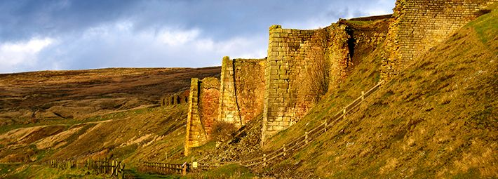 Rosedale Iron Kilns Evening Light by Paddy Chambers