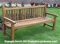 Example garden bench