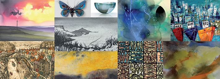 Montage of Artwork for Past and Present Exhibition
