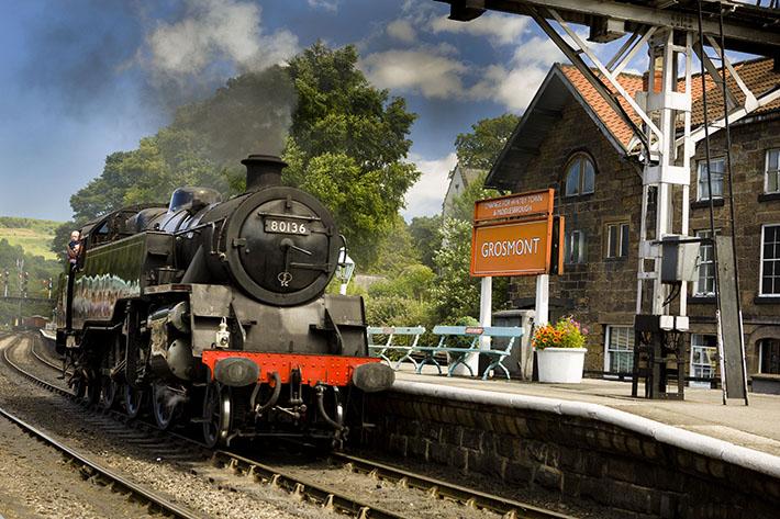 NYMR steam train at Grosmont Credit Ebor Image