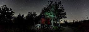 Mountain biking dark skies (Sutton Bank) credit Steve Bell