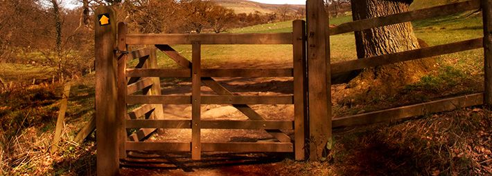 Footpath gate on path in Farndale by Chris Ceaser