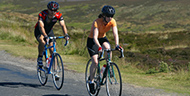 Cyclists on Moor to Sea Cycle Route