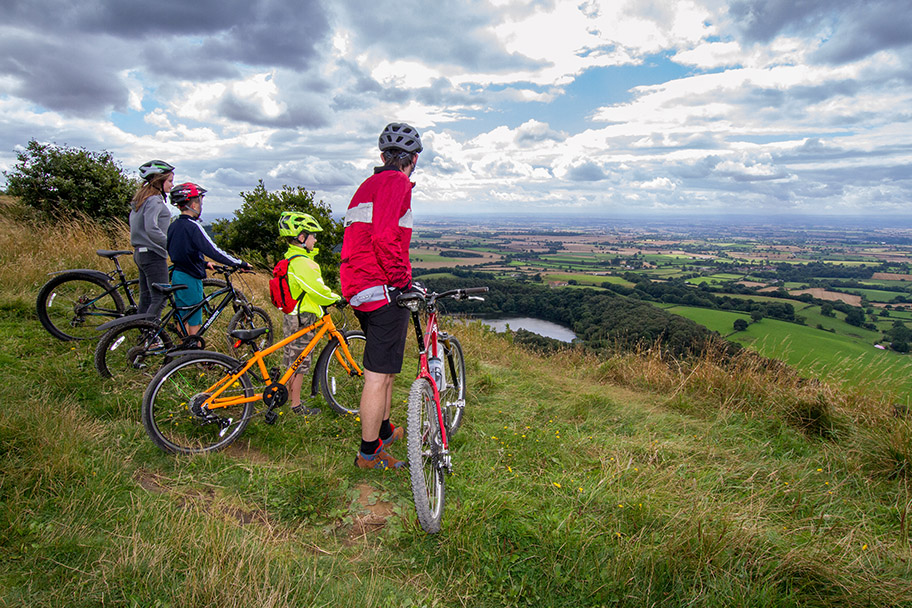 The view over Lake Gormire on Sutton Bank's Cycle Tracks Credit Ebor Images