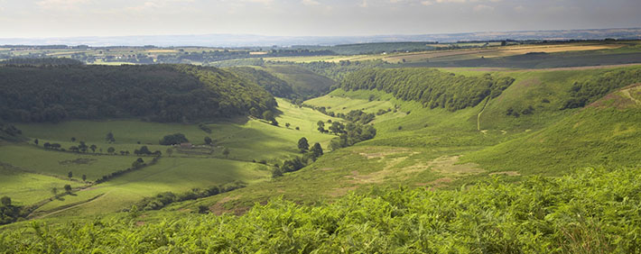 View over Hole of Horcum by Mike Kipling