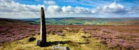 Standing stone on Blakey Ridge overlooking Farndale by Mike Kipling