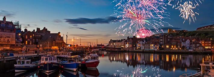 Whitby Regatta Fireworks by Colin Carter