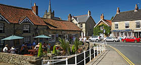 Shops at Thornton le Dale by Mike Kipling