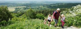 Family exploring at Sutton Bank. Credit North York Moors National Park