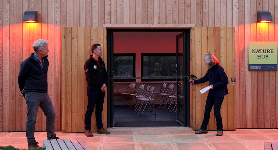 Astronomer Richard Darn, Mike Hawtin from the North York Moors National Park Authority and Astrophysicist Professor Carole Haswell open the Star and Nature Hub area