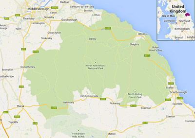 North York Moors map