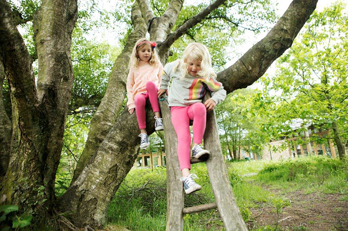 Children playing at Sutton Bank. Credit North York Moors National Park