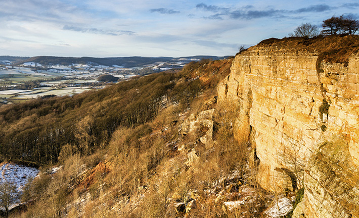 Sutton Bank, a dramatic inland cliff the Scots army faced Credit RJB Photographic