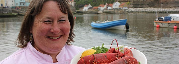 Staithes Festival of Arts & Heritage Lisa Chapman chef by Chris J Parker