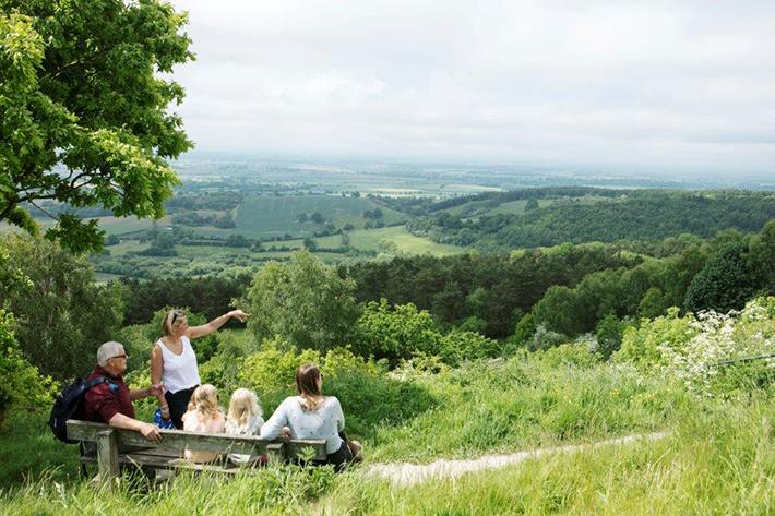 Family exploring at Sutton Bank 2. Credit North York Moors National Park