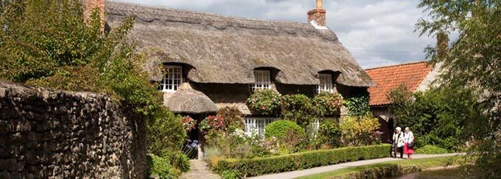 Thatch Cottage at Thornton le Dale by Mike Kipling
