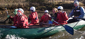 Canoeing on the River Esk