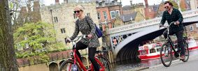 Cyclists in York