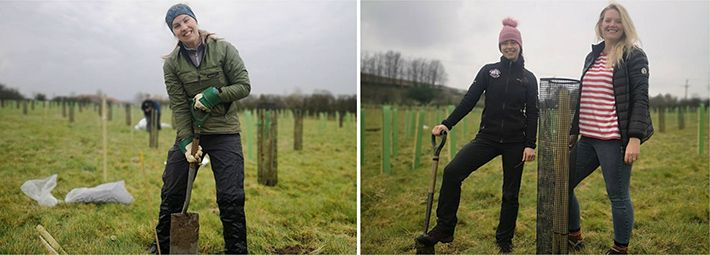 National Park staff taking part in tree planting event