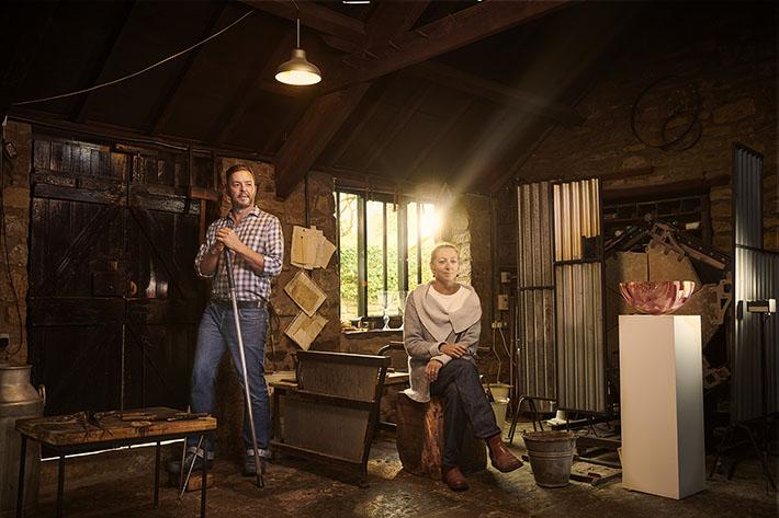 Gillies Jones in their Rosedale Abbey workshop Credit ©VisitBritain/Sam Barker