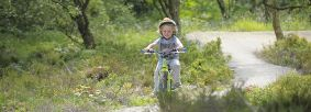 Child on cycle trail at Sutton Bank by Tony Bartholomew