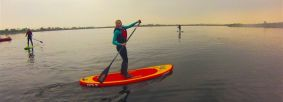 Stand up paddleboarding at Scaling Dam Credit Valley Adventures