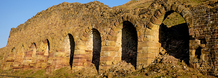 Rosedale-Stone-Kilns-and-chimney-sunlight,-by-Paddy-Chambers