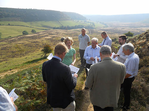 Natural England site visit to share knowledge