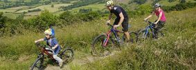 Mountain biking at Sutton Bank by Tony Bartholomew