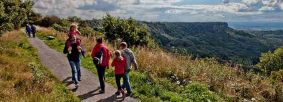 Family on path at Sutton Bank by Chris J Parker
