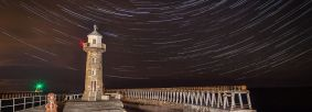 Star Trails Whitby Pier Credit Mark Bulmer of Ebor Images