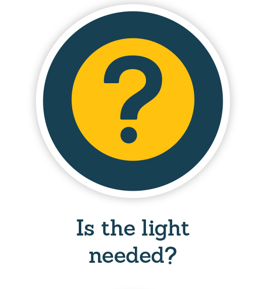 Is the light needed symbol