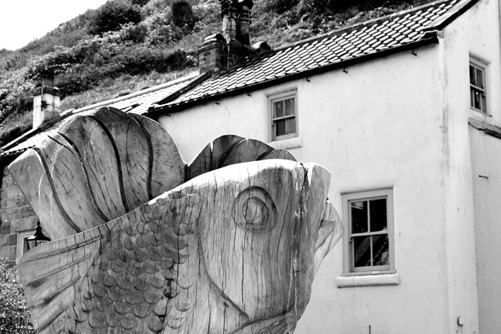 Fish carving, Staithes