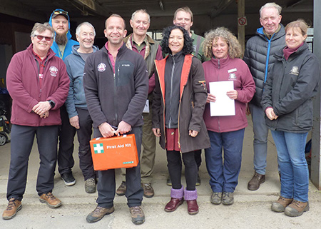 David Bream pictured far left among staff from the North York Moors National Park Authority and other volunteers