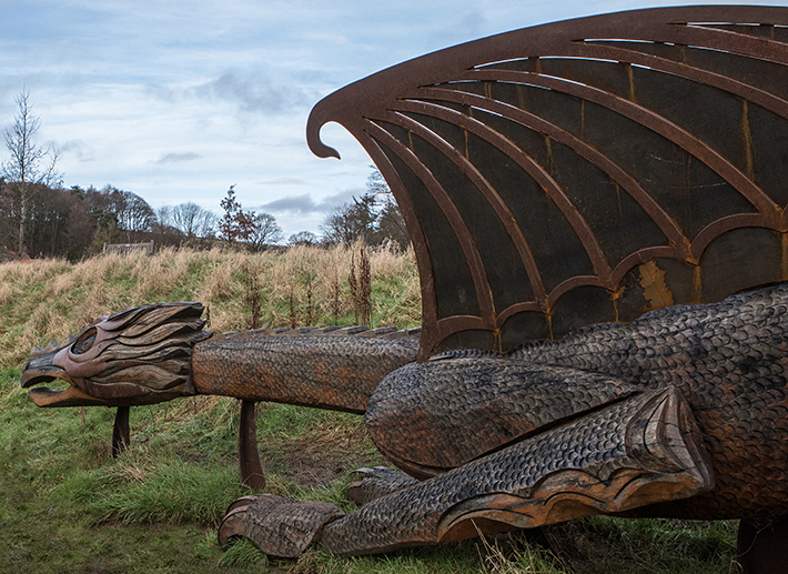 Wish dragon at The Moors National Park Centre Credit Polly Baldwin