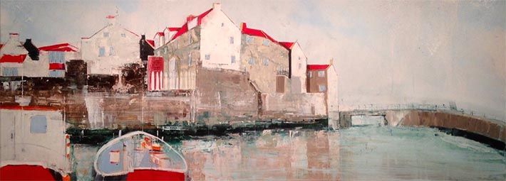 Reflections in the Beck, Staithes by Rob Shaw