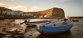 Boats at Staithes @VisitBritainImages
