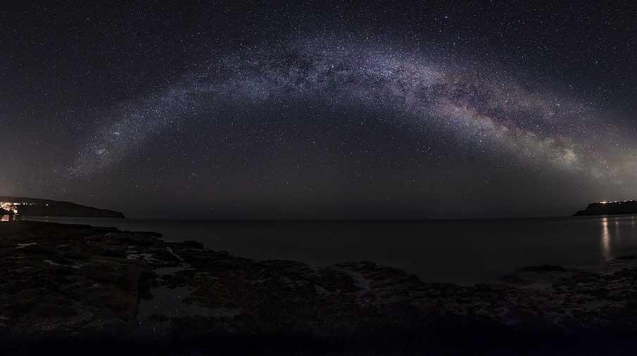 Milky Way over Ravenscar Credit Steve Bell