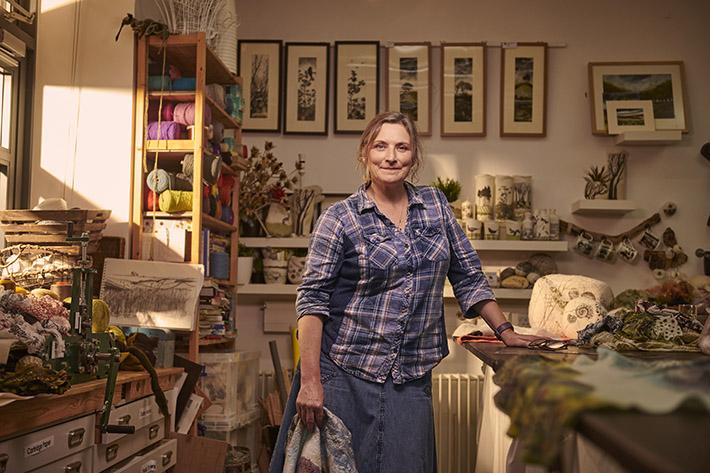 Lindsey Tyson, Textile Artist and Designer (c) VisitBritain/Sam Barker