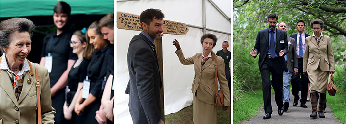 HRH Princess Anne on Visit to North York Moors