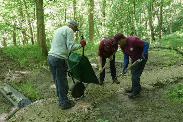 Volunteer doing Coast to Coast repairs