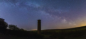 Milky Way above Warren Moor in the North York Moors National Park