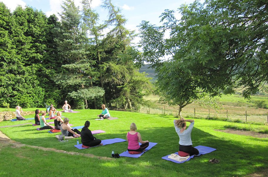 Outdoor yoga at The Tree