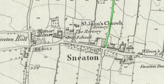 Historic map of Sneaton