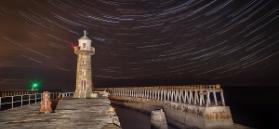 Star Trails Whitby Pier Credit Mark Bulmer, Ebor Images
