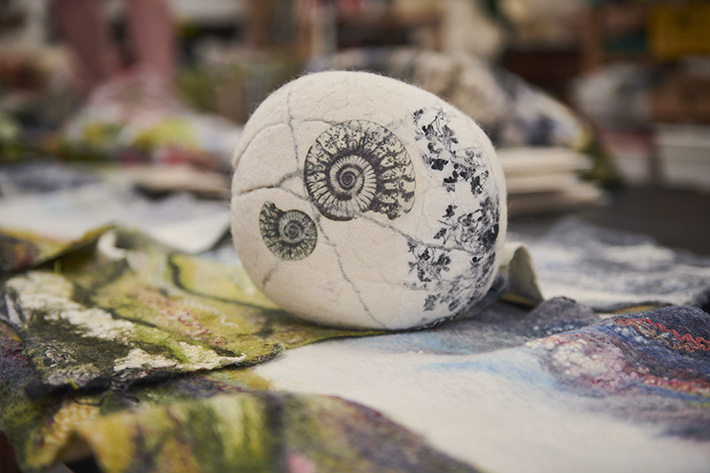 Lindsey Tyson's felt pebble (c) VisitBritain/Sam Barker